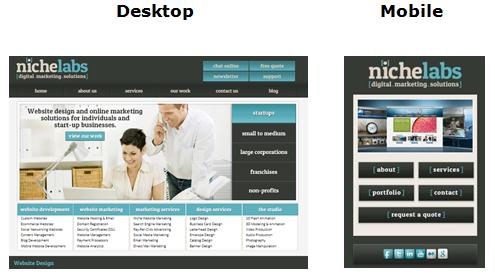 Desktop NL vs Mobile NL