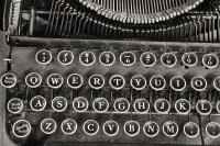 An Antique Typewriter Showing Traditional QWERTY Keys IV