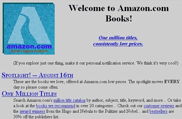 Old Amazon Home Page